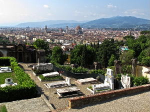 Cimitero delle Porte Sante a Firenze. Scorcio