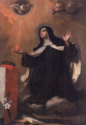 Bartolomeo Gennari. S. Maria Maddalena de' Pazzi. Pinacoteca Civica, Cento