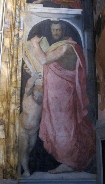 Santissima Annunziata. Cappella di San Girolamo. Alessandro Allori, Profeta