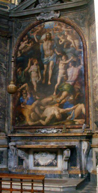 Santissima Annunziata. Bronzino, Resurrezione