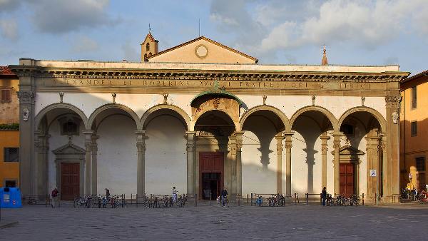 Santissima Annunziata Firenze. Facciata