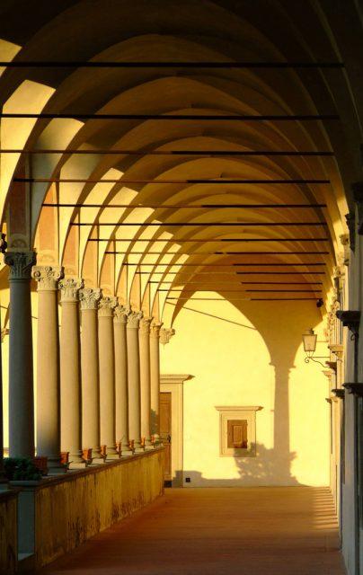 Certosa del Galluzzo - Chiostro Grande. Particolare del loggiato