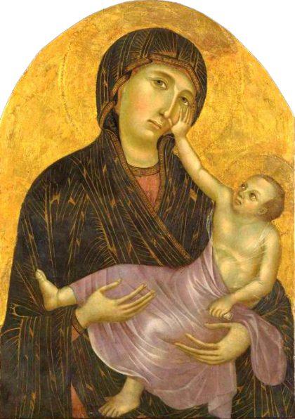 Museo di Santa Verdiana a Castelfiorentino. Cimabue (attribuito a). Madonna col Bambino (ultimo decennio del sec. XIII)