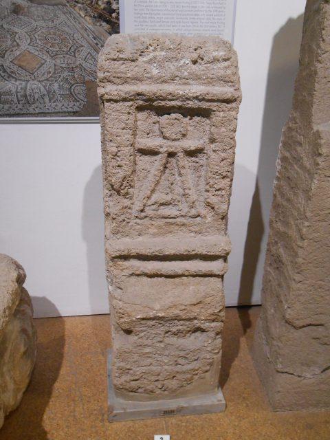 Cagliari. Stele con il simbolo di Tanit